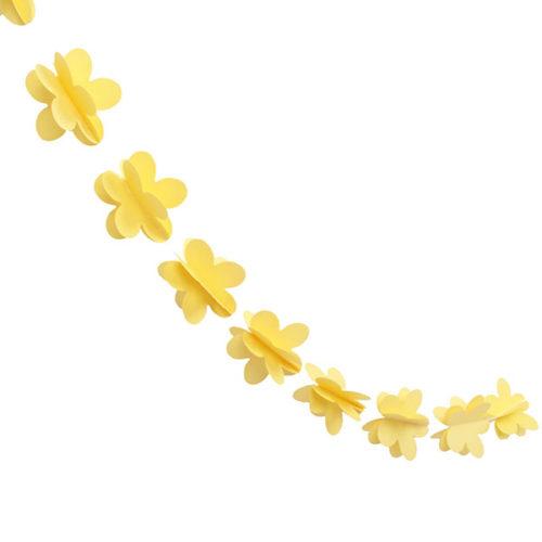 Гирлянда 3D Цветочки желтая 165 см