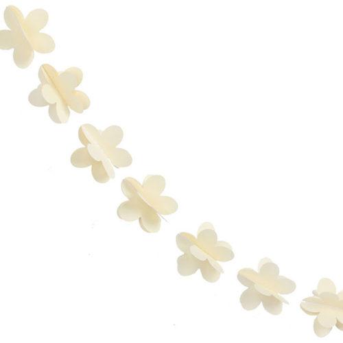 Гирлянда 3D Цветочки лимонная 165 см