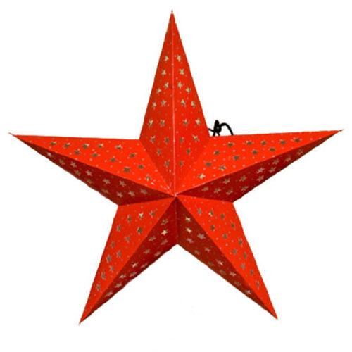 Звезда бумажная 60 см красная