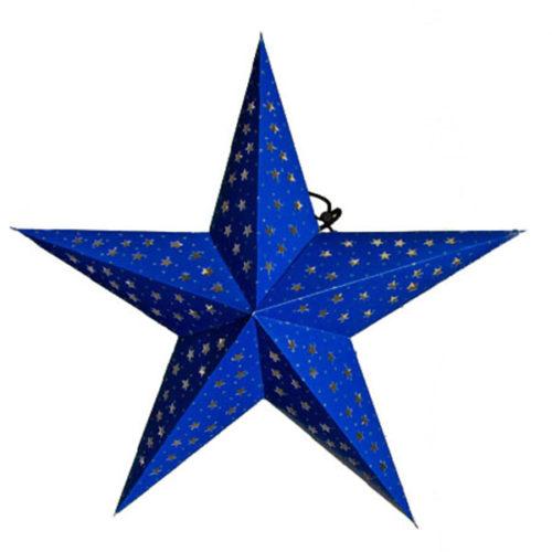 Звезда бумажная 60 см синяя