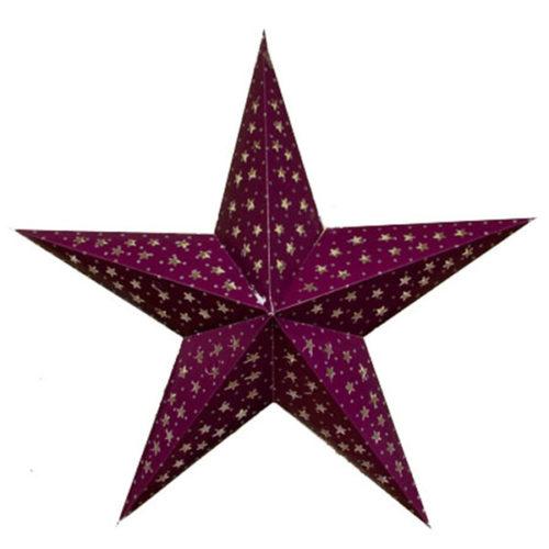 Звезда бумажная 60 см фиолетовая