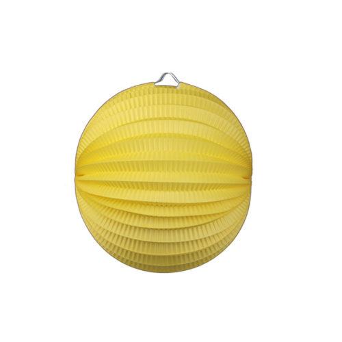 Подвесной фонарик Аккордеон 23 см желтый