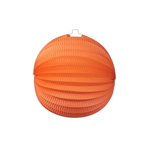 Подвесной фонарик Аккордеон 23 см оранжевый