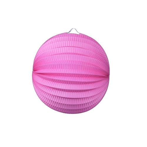 Подвесной фонарик Аккордеон 23 см розовый