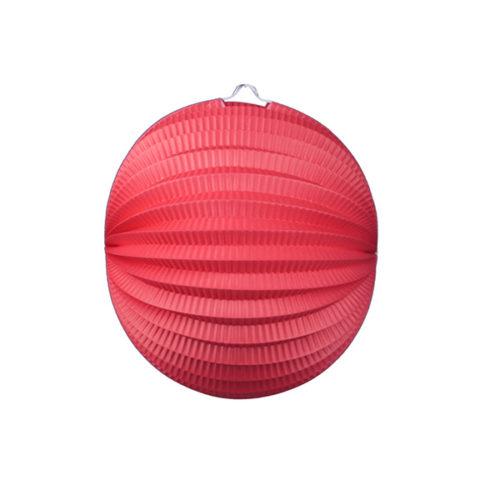 Подвесной фонарик Аккордеон 25 см красный