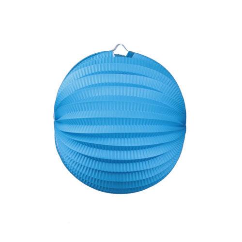 Подвесной фонарик Аккордеон 25 см синий
