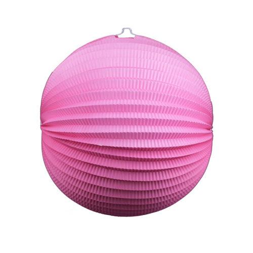 Подвесной фонарик Аккордеон 34 см розовый