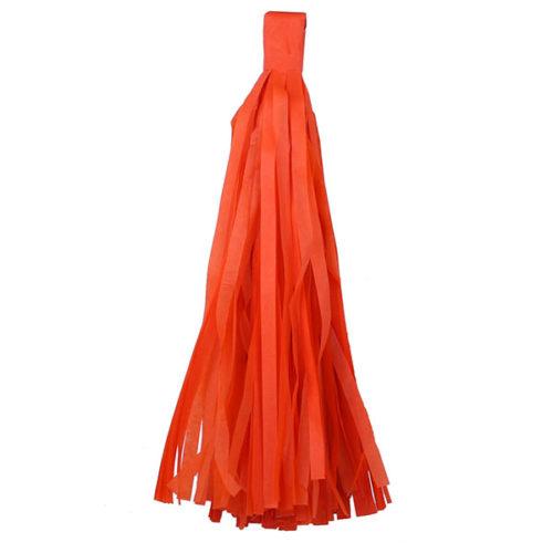 Помпон Кисточка Тассел 35 х 25 см оранжевый 10 листов