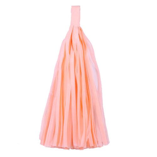 Помпон Кисточка Тассел 35 х 25 см персиковый 10 листов