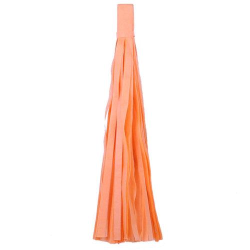 Помпон Кисточка Тассел 35 х 25 см светло-оранжевый 5 листов