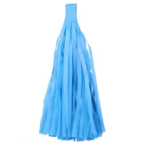 Помпон Кисточка Тассел 35 х 25 см синий 10 листов