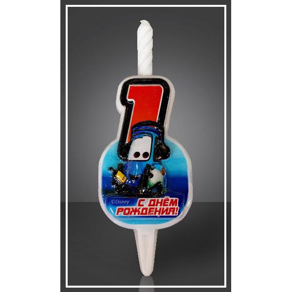 Свеча Цифра 1 Disney Тачки 12,5 см