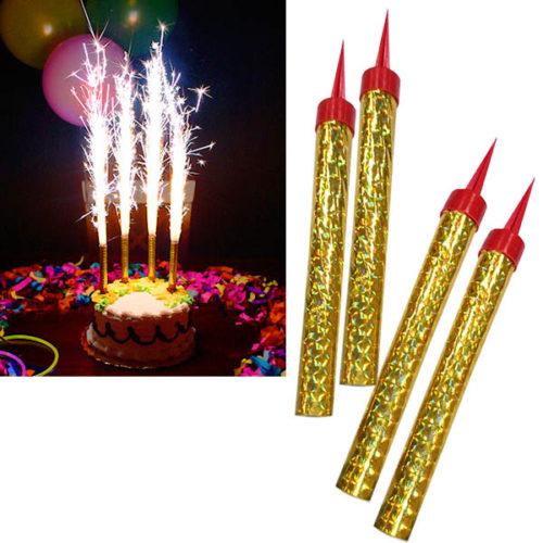 Свечи Фонтаны 10 см для торта 4 штуки