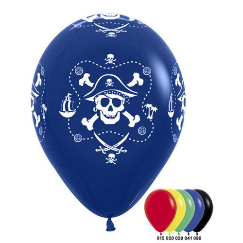 Шар 30 см Пираты Разноцветное Ассорти Пастель