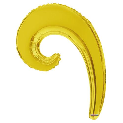 Шар 36 см Волна Золото
