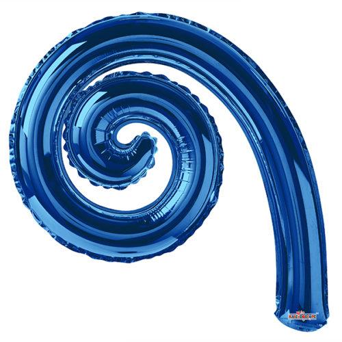 Шар 36 см Спираль Голубой
