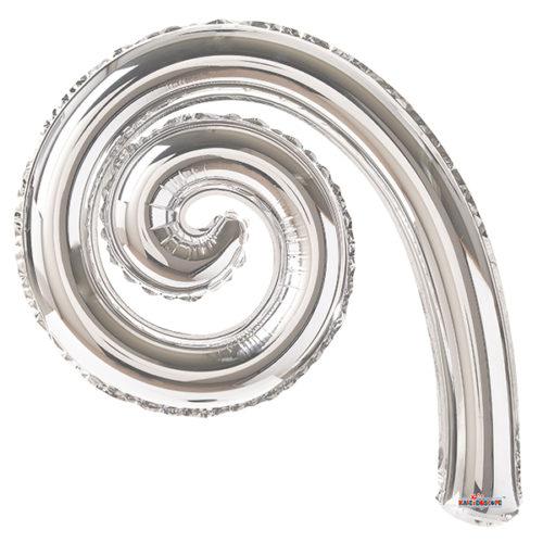 Шар 36 см Спираль Серебро