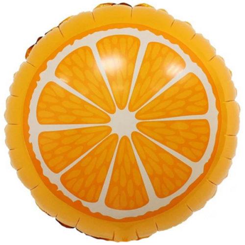 Шар 46 см Круг Апельсин Оранжевый