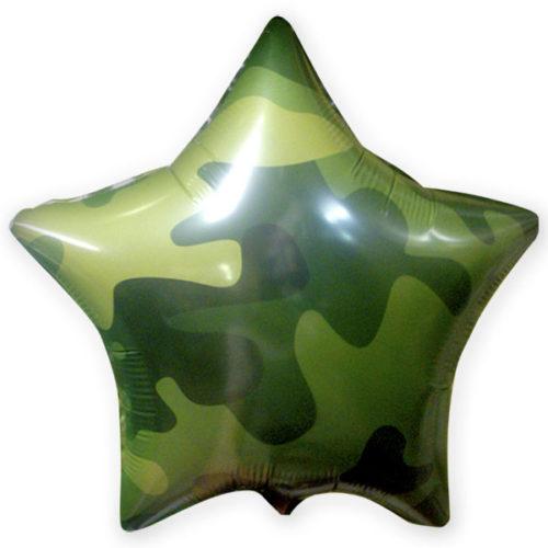 Шар 46 см Круг Звезда Милитари