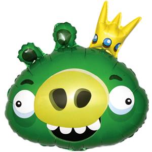 Шар 60 см Фигура Angry Birds Король свиней