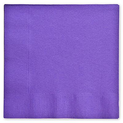 Салфетки 33 см Фиолетовые Purple 16 штук