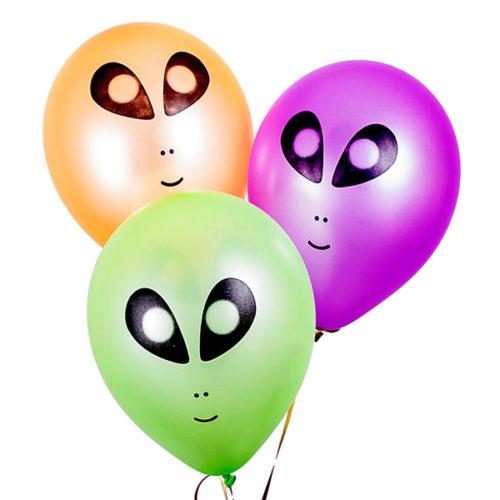 Связка из 3 шаров НЛО Неон