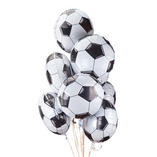 Связка из 9 воздушных шаров футбольных мячей