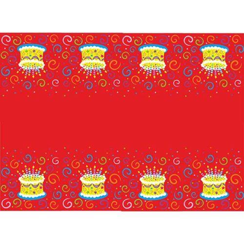 Скатерть полиэтиленовая Торт яркий 140 см X 180 см