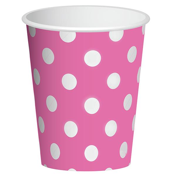 Стаканы бумажные 250 мл Розовый 6 штук