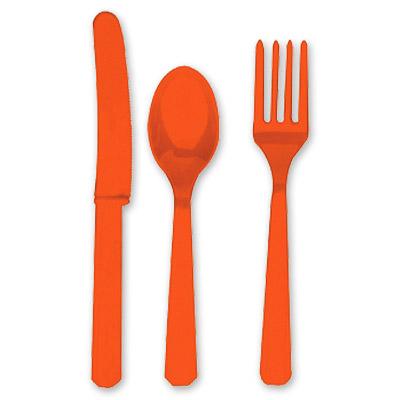 Столовые приборы Оранжевые Orange Peel 8 персон