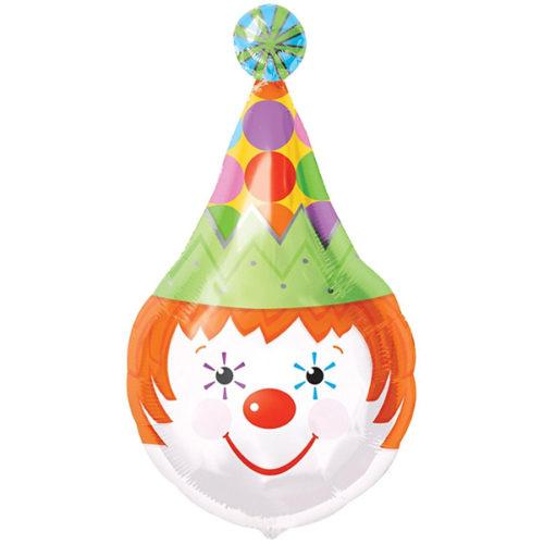 Шар 71 см Фигура Голова циркового клоуна
