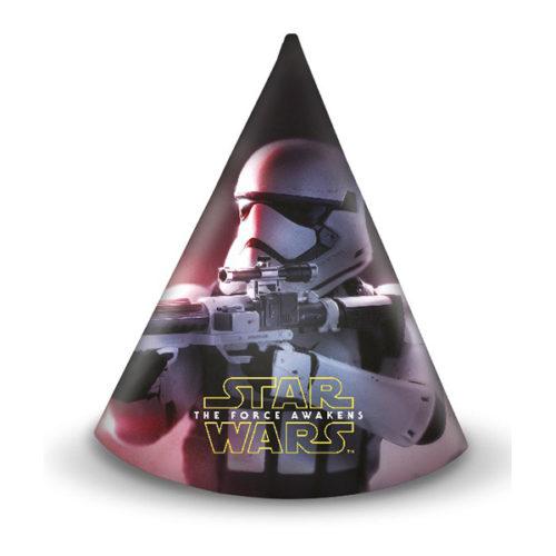 Колпаки 9 х 14 см Звездные войны 6 штук