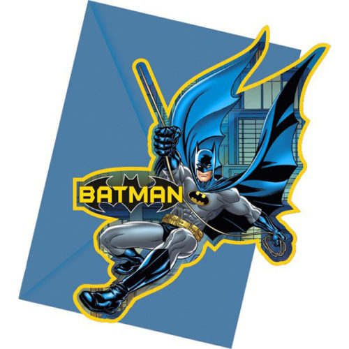Приглашения 9 х 14 см Бэтмен Dark Hero 6 штук