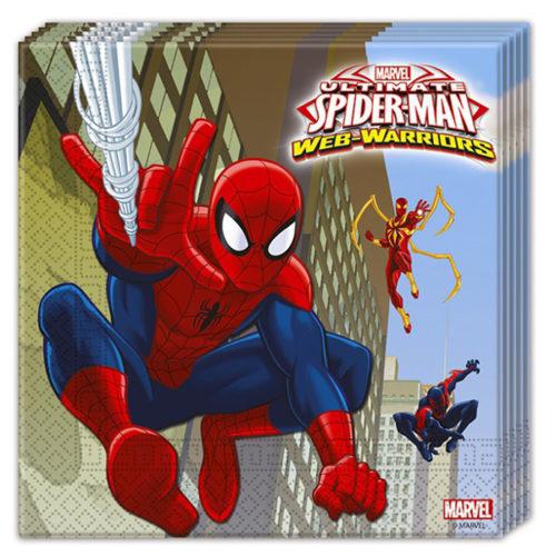 Салфетки 33 х 33 см Человек-паук Веб воины 20 штук