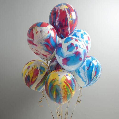Связка из 9 многоцветных шаров