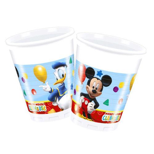 Стаканы пластиковые 200 мл Игривый Микки Маус 8 штук