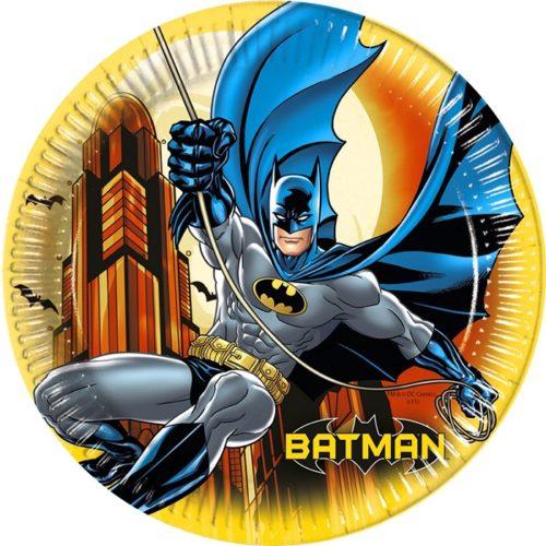 Тарелки бумажные 20 см Бэтмен Dark Hero 8 штук
