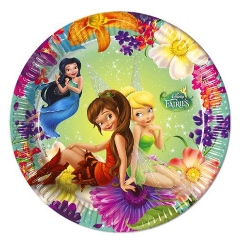 Тарелки бумажные 20 см Феи Магия Disney 8 штук