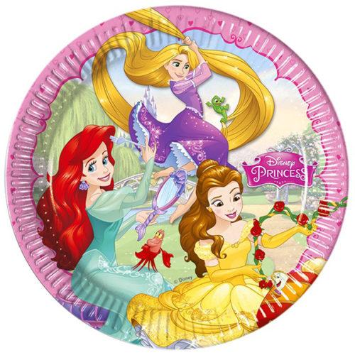 Тарелки бумажные 20 см Принцессы Disney 8 штук