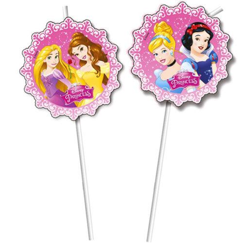 Трубочки Принцессы Disney 6 штук