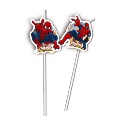 Трубочки Человек-паук Веб воины 6 штук