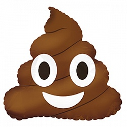 Шар 41 см Мини-фигура Смайл Эмоции Шоколадное мороженое Коричневый