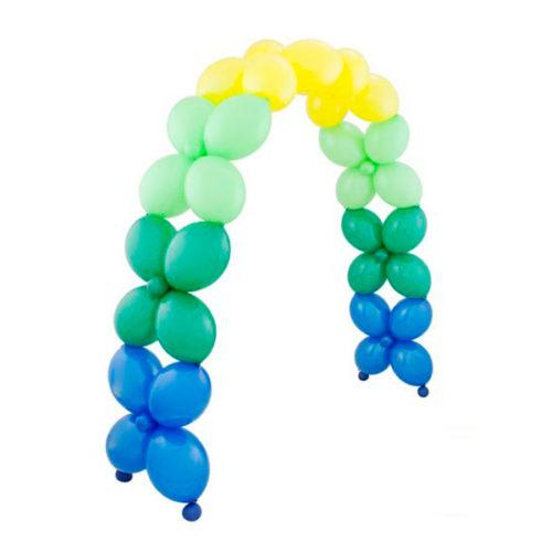 Арка из шаров Синий Зеленый Желтый