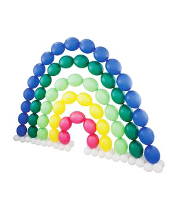 Арка концентрическая из воздушных шаров