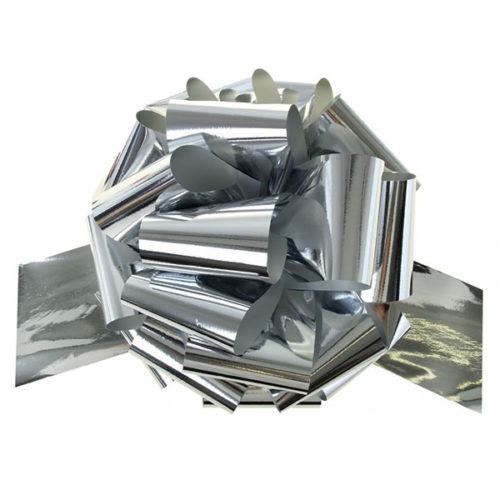 Бант Шар металлик Серебро 17 см 20 шт