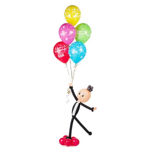Мальчик с шариками х воздушных шаров