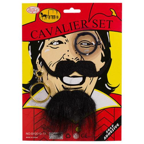 Набор Кавалерист борода усы брови черный