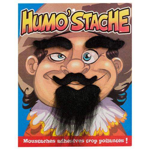 Набор Мушкетер борода усы брови черный
