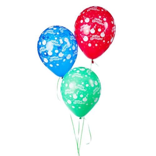 Набор из 3 желтых воздушных шаров С ДР Смайлики