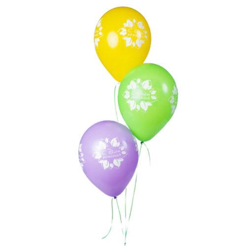 Набор из 3 желтых воздушных шаров С ДР Цветок